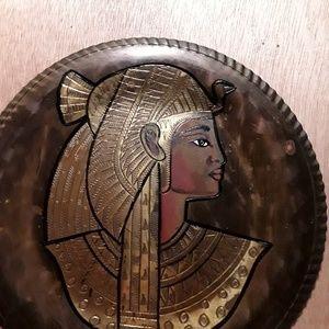 Antique Copper King Tut Plate